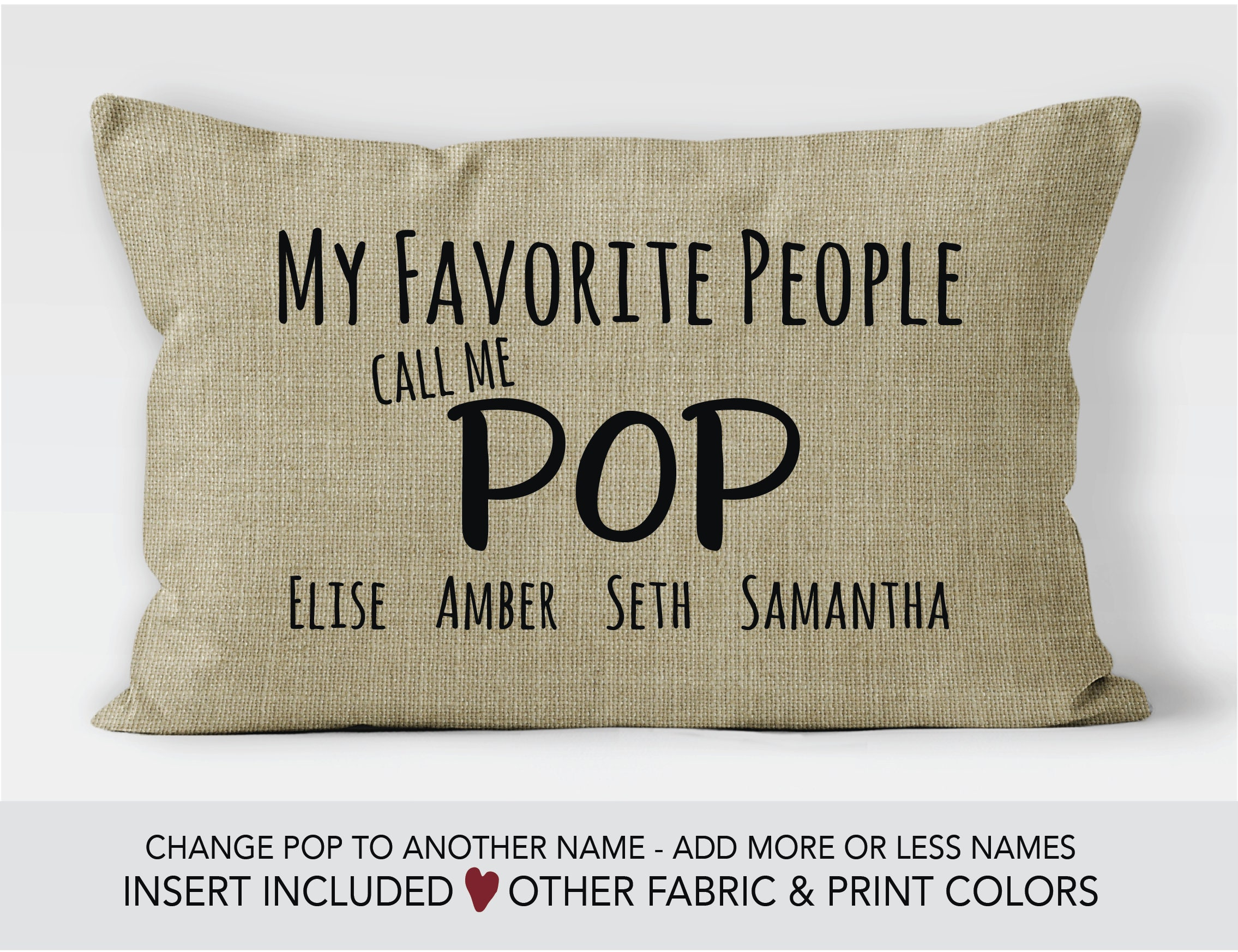 Pop Gift idea Fathers Day gift Pop pillow 60th birthday gift personalized gifts for Pop my greatest blessings call me Pop Father's day gift