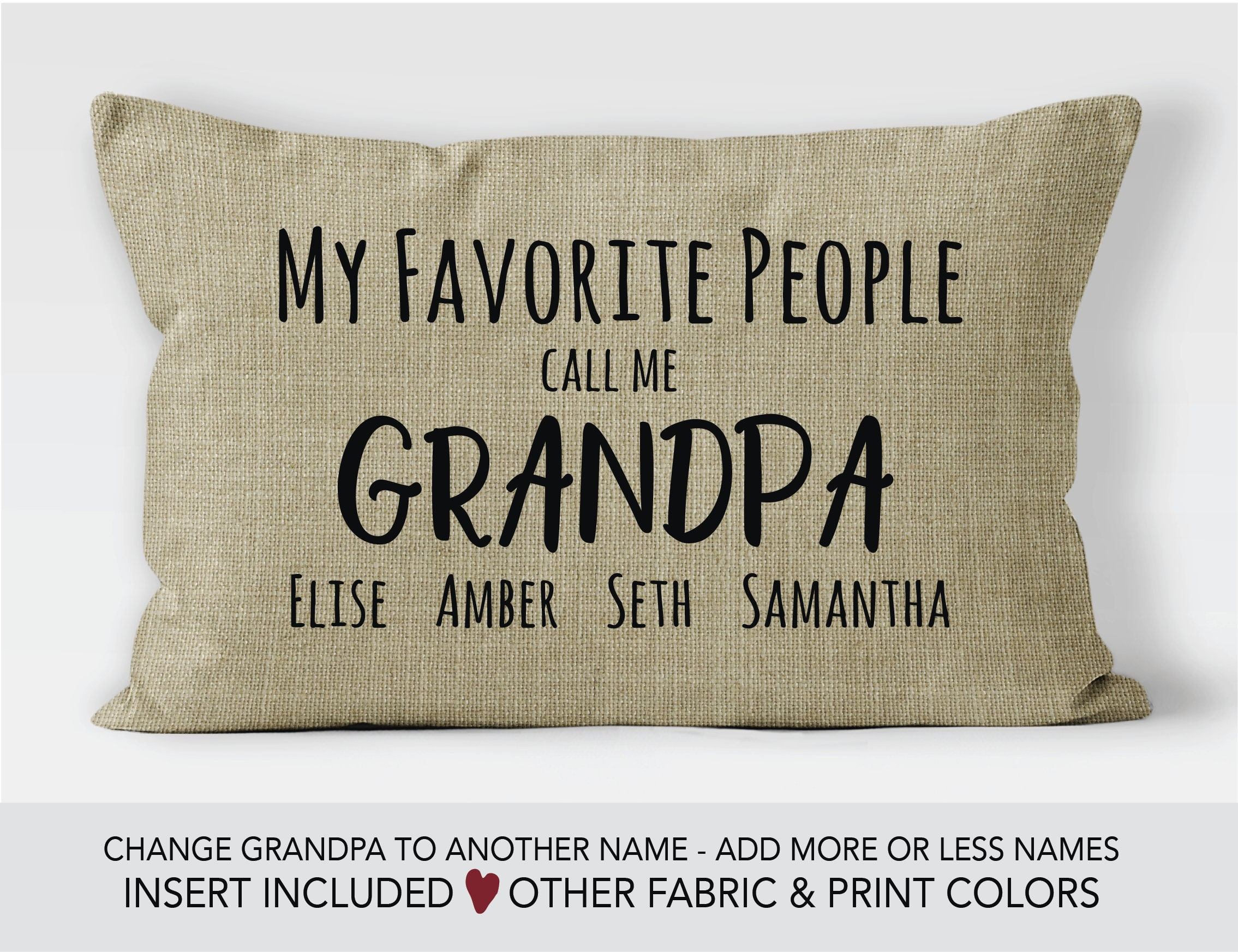 Grandpa Gift idea Fathers Day gift grandpa pillow 60th birthday gift personalized gifts for Dad my greatest blessings call me grandpa  sc 1 st  Sweet Summerlee : birthday gift for grandpa - princetonregatta.org