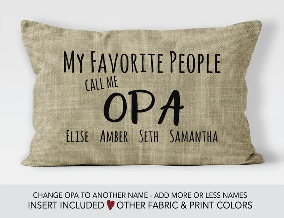 Opa Gift Idea Fathers Day Pillow 70th Birthday