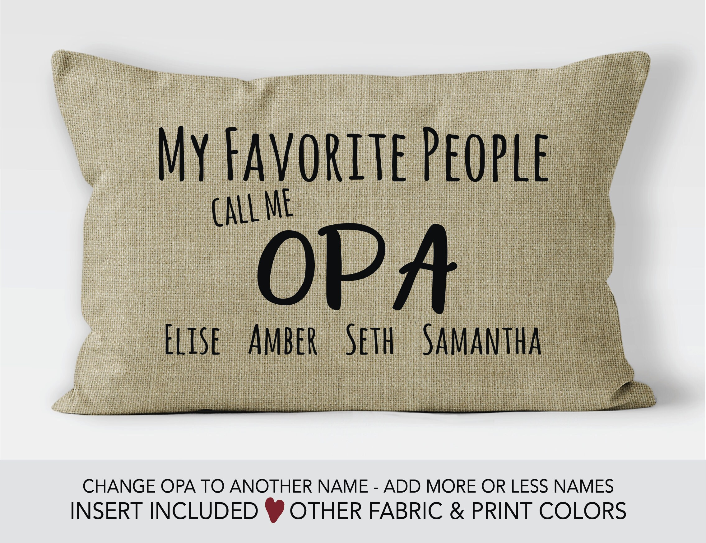 Opa Gift Idea Fathers Day Pillow 70th Birthday Personalized Gifts For My Greatest Blessings Call Me Grandpa
