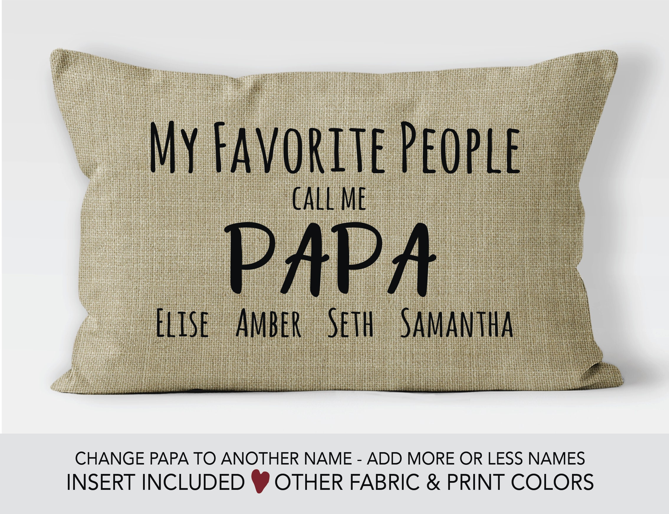 Papa Gift Idea Fathers Day Pillow 80th Birthday Personalized Gifts For My Greatest Blessings Call Me