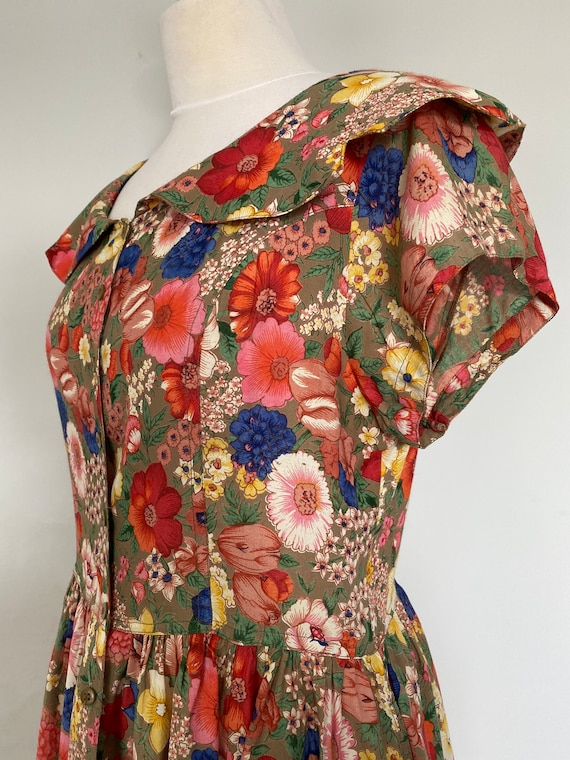 Lovely eighties floral Phool frock size 14