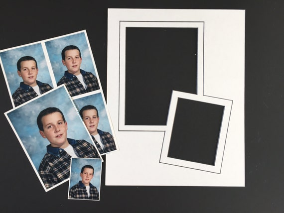 11 x 14 Double Image Photo Mat - Bottom Slant