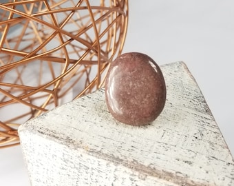 rosewood pink statment stone ring