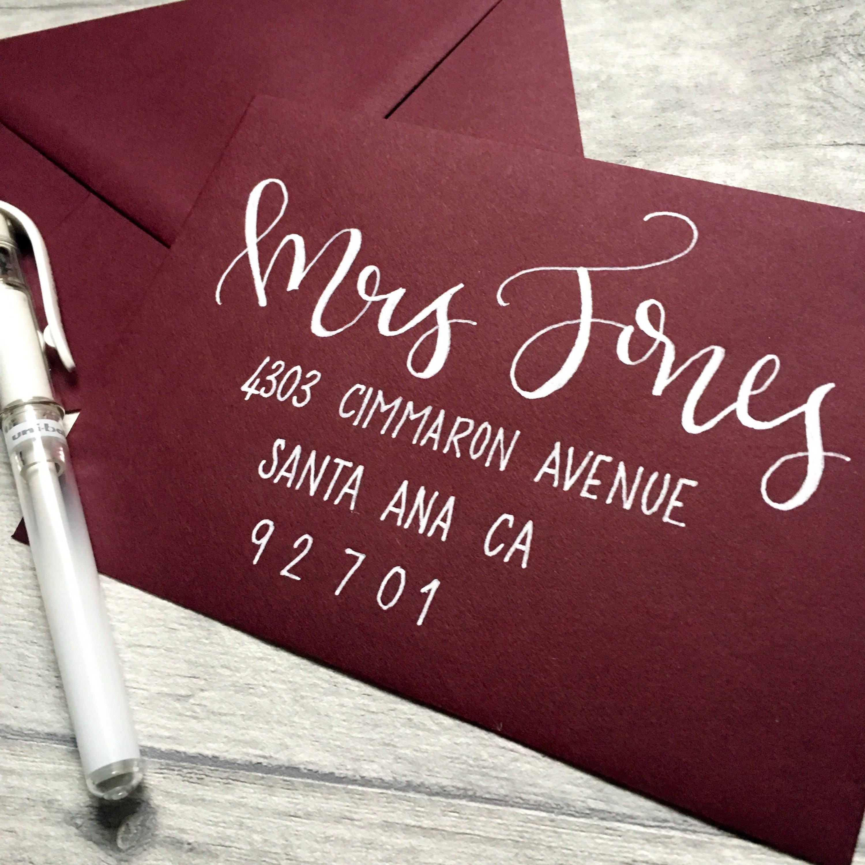 Hand Lettered Envelopes // Modern Calligraphy // Wedding | Etsy