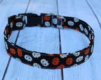 b3720c8d Halloween Dog Collar - Pumpkin Dog Collar - Fall Dog Collar - Halloween Dog  Leash - Jack O Lantern Collar - Personalized Dog Collar