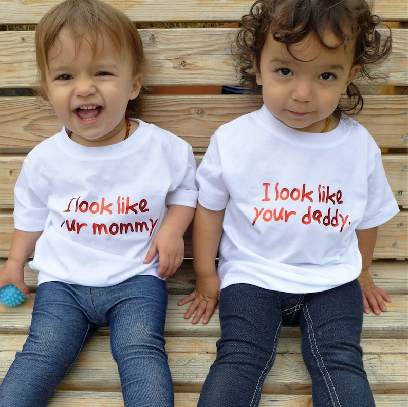 Fraternal twins shirt set (2) with