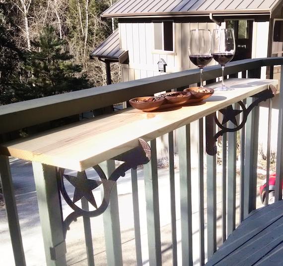 Kulshan Diy Balcony Railing Table Bracket Set For Deck Bars Etsy