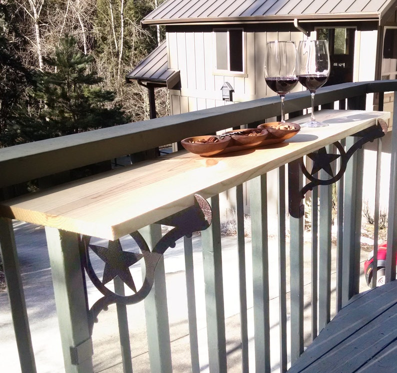 Kulshan DIY Balcony Railing Table Bracket Set for Deck Bars, Countertops,  Planter Box and more! Two Step Easy Installation