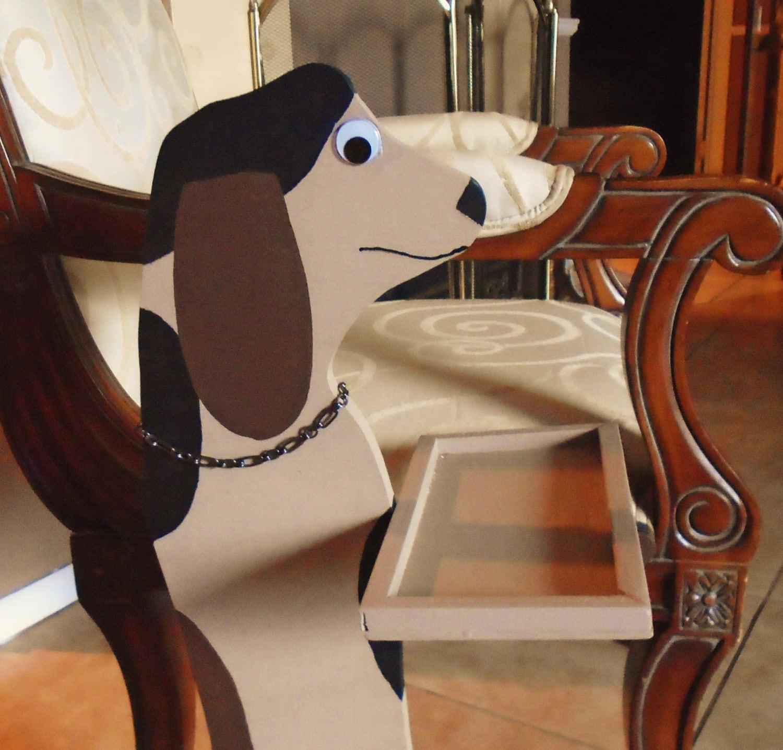 Dog Statue Wood Butler Folk Art Bassett