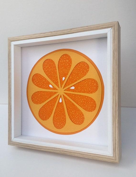 Citrus Orange Fruit Home Decor, Kitchen Wall Art, Wall Decor Kitchen,  Housewarming Gift, Birthday Gift, Wedding Gift, Papercut Art Handmade