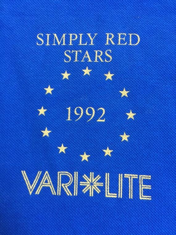 Millésime 1992 Stars Simply Red Stars 1992 Tour chemise XL 57eb41