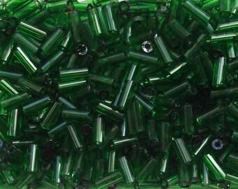 Beads tubes Green 5 mm / 8 grams