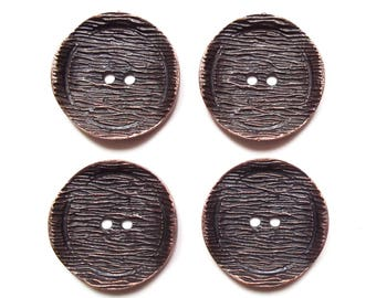 4 large round buttons copper 38 mm acrylic