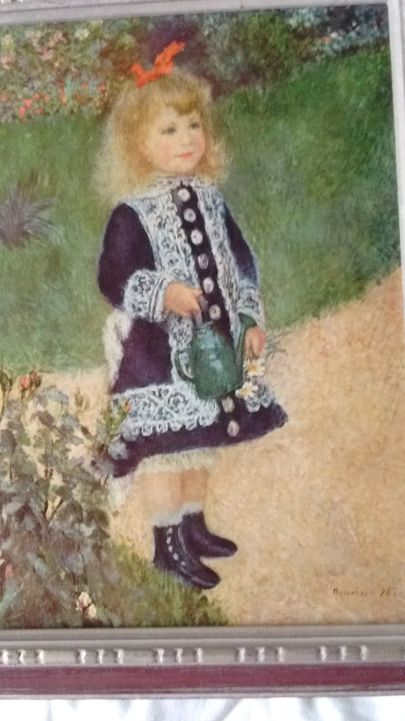 Jahrgang Renoir: ein Mädchen mit einer Gießkanne 12 x | Etsy