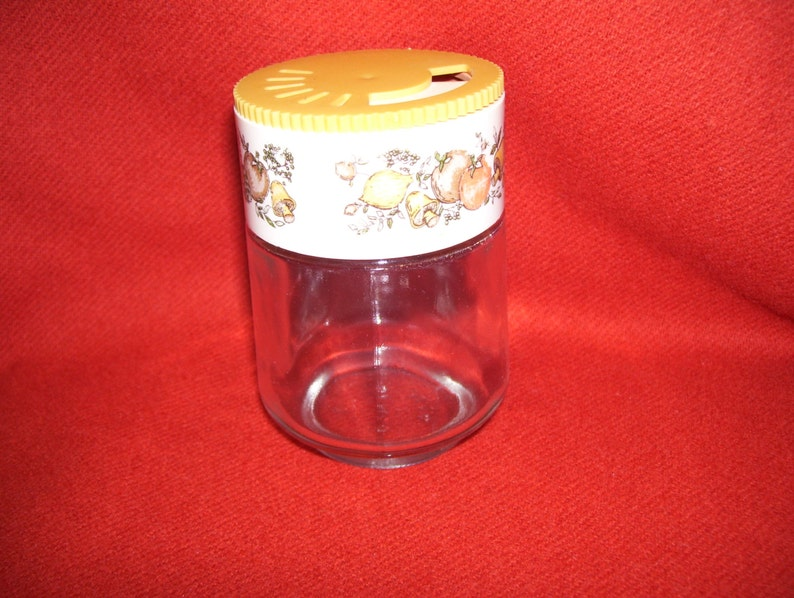 vintage Gemco Spice of LIfe glass spice shaker