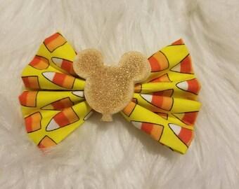 Disney candy corn bow