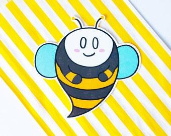 Boobee | Vinyl Sticker. Halloween, Spoopy, Ghost, Rainbow, Pun sticker, Large sticker, Planner sticker, BuJo sticker, Laptop sticker