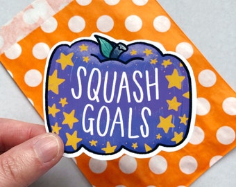 Squash Goals | Vinyl sticker. Pumpkin sticker, Planner sticker, BuJo sticker, Laptop sticker, Autumn sticker, Fall sticker, Halloween