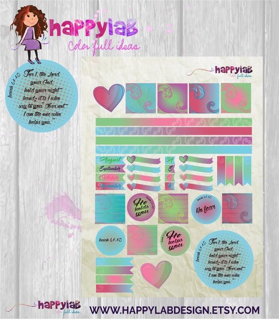 Planner Printable Bible Quotes Stickers Printable Planner Life Etsy