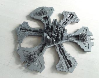 Stargate Atlantis city model kit 3d printed