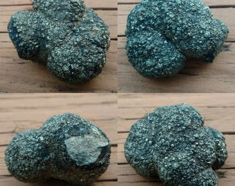 Botryoidal PYRITE Ball - 155 grams - Raw Fool's Gold, Golden Pyrite Crystal Cluster, Dense, Rough Textured, Rare Globular Formation, Equant