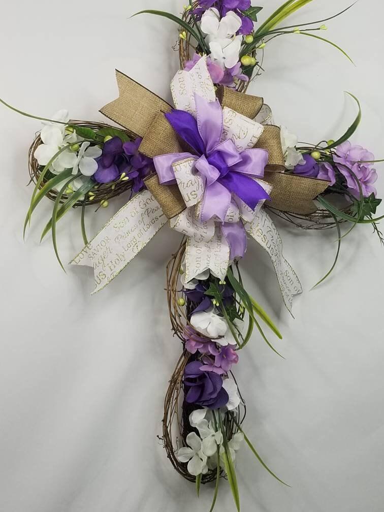 Cross Wreath Easter Cross Easter Religious Cross Cross Classy World