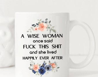 Female Empowerment, Motivational Mug, Fuck Cancer, 50th birthday gift for women, 21 st Birthday Gift For Her, Divorce Gifts, Modern Mugs
