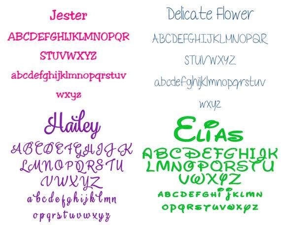 Personalisierte Kinder Rucksack Rosa Bestickt Mit Jedem Namen Rucksack Schultasche Auswahl Von 5 Farben