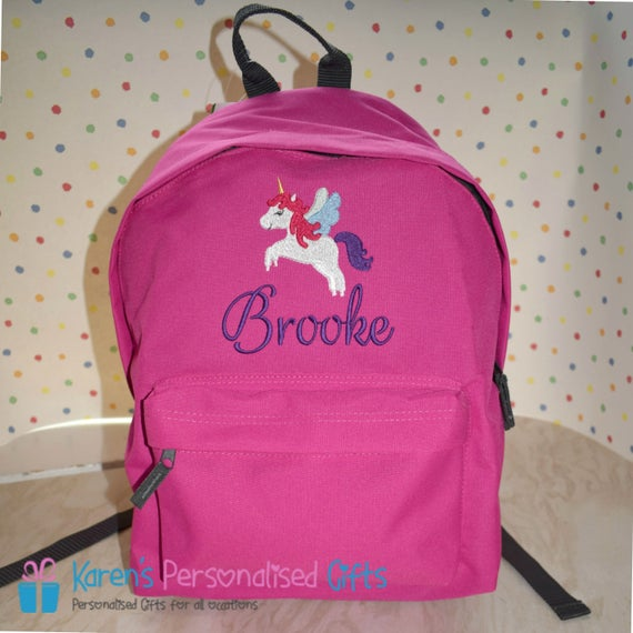 Personalized Unicorn Backpack