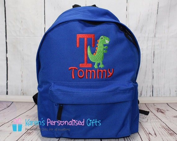 Personalized Kids Backpack Embroidered Butterfly with Flowers Monogrammed with Name of Your Choice Perfect Kids School Gift