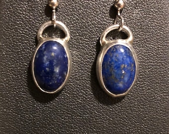 Lapis Lazuli and Sterling Silver Earrings