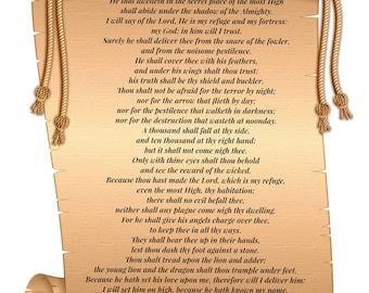 Prayer Cards  God's protection  PDF Soldiers psalm  | Etsy