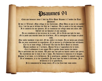 Psalm 91 Poster Devine Protection Prayer Wall Art Psalm 91