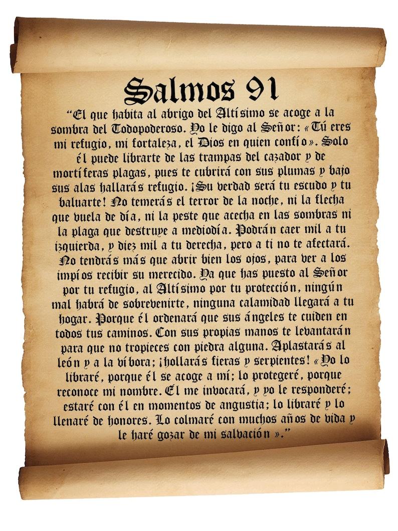 Salmos 91  Printable Psalm 91 in spanish  Bible poster  Spanish Bible  print
