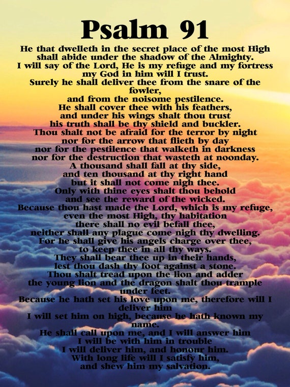 Shocking image for psalm 91 printable