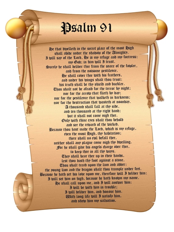 Terrible image pertaining to psalm 91 printable