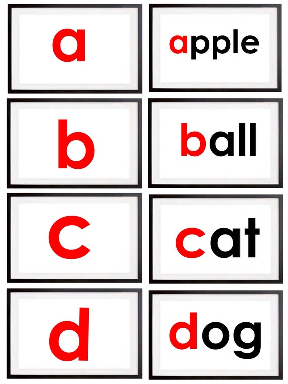Alphabet a-z Phonics Flashcards  84 PDF Full A4 Alphabet Flashcards  Glenn  Doman  Shichida Flashcards  Haguru Flash Cards  KS1 KS2