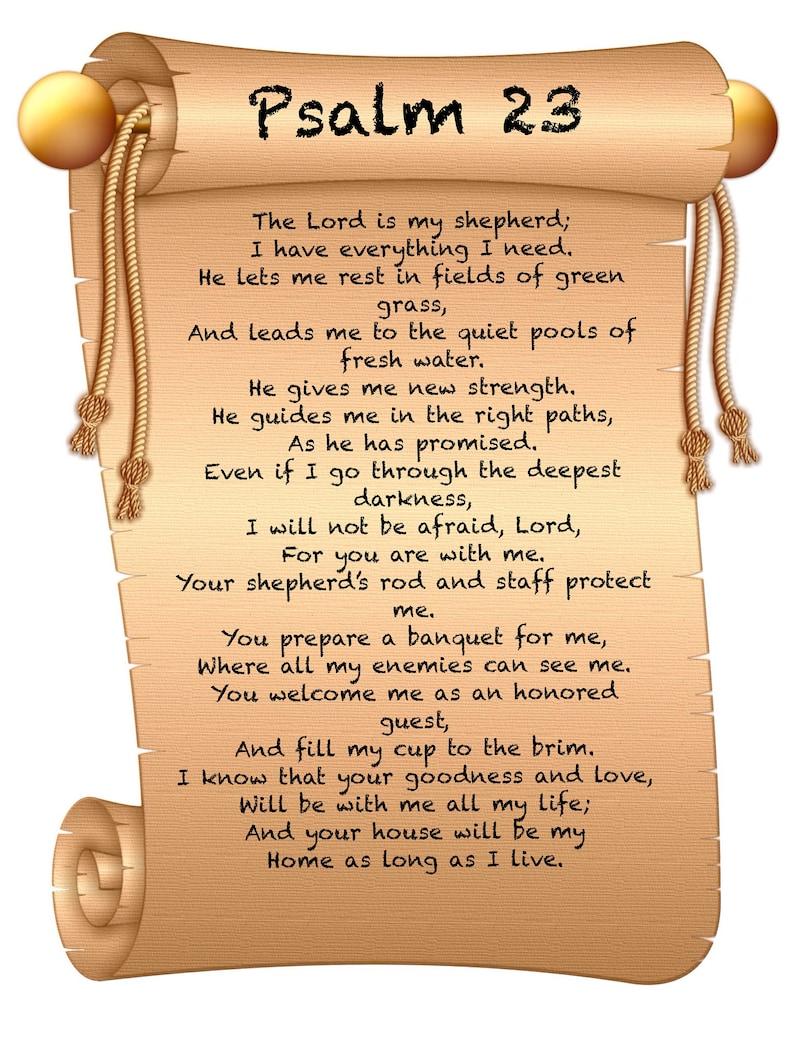 Bibel Psalm 23