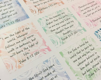 Inspirational Bible Verse, rose watercolor, ECLP thankful thought box