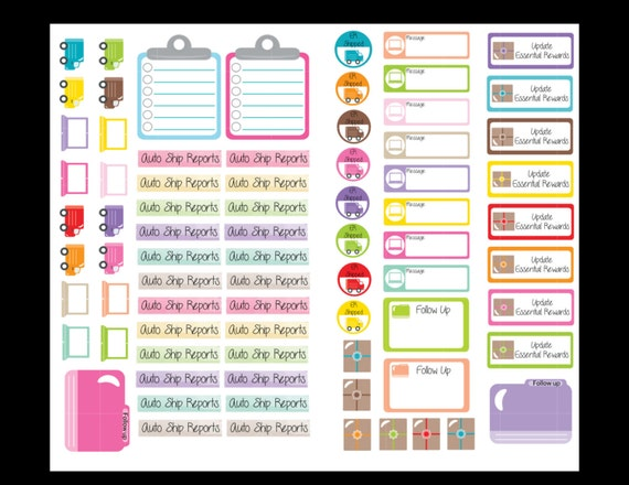 Essential oil business planner stickers