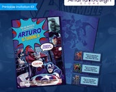 Artículos Similares A Invitación Avengers Tarjeta De
