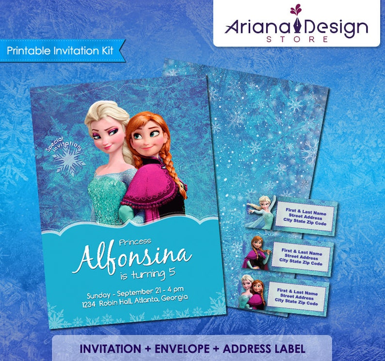 Frozen Birthday Invitation Kit Party