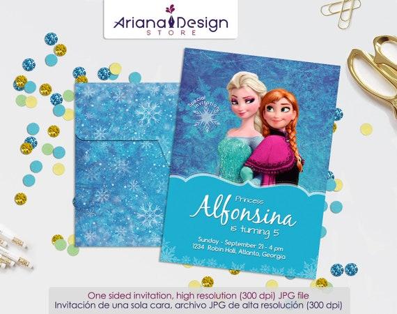 Invitación Frozen Tarjeta De Cumpleaños Frozen Cumpleaños Frozen Fiesta Frozen Frozen Plantilla Para Invitacion Tarjeta Frozen