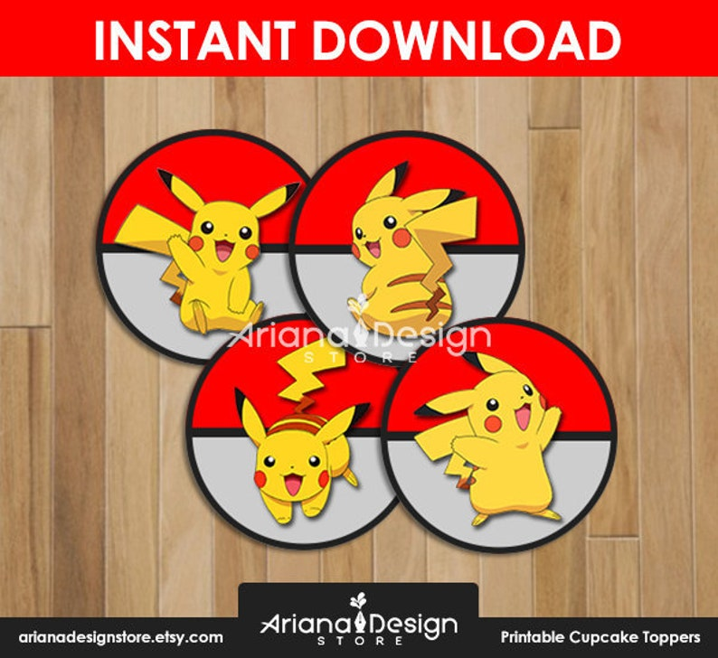 graphic regarding Pokemon Cupcake Toppers Printable named Pikachu Cupcake Toppers Printables Pikachu Cupcakes Decoration Pokemon Cupcake Toppers Printables Pokemon Cupcakes Decoration