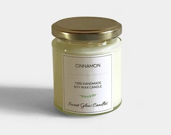 Cinnamon candle, cinnamon scent, strong scented candle, cinnamon candle, soy wax candle, container candle, cinnamon, candle, gift, vegan