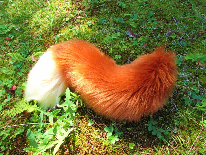 20e552c80 Any Color Fluffy Furry Fox Tail Cosplay Wearable Fursuit Tail