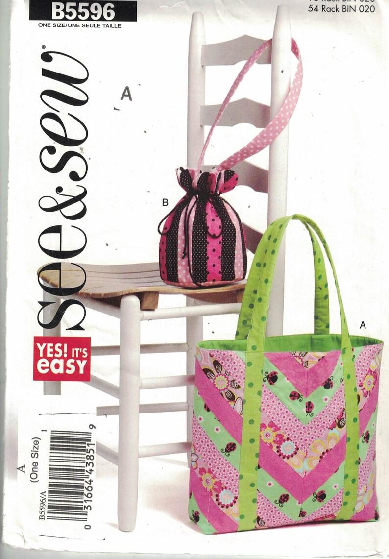 4eda5daa83b14 See and Sew 5596 Craft Pattern Womens Handbag or Tote UNCUT