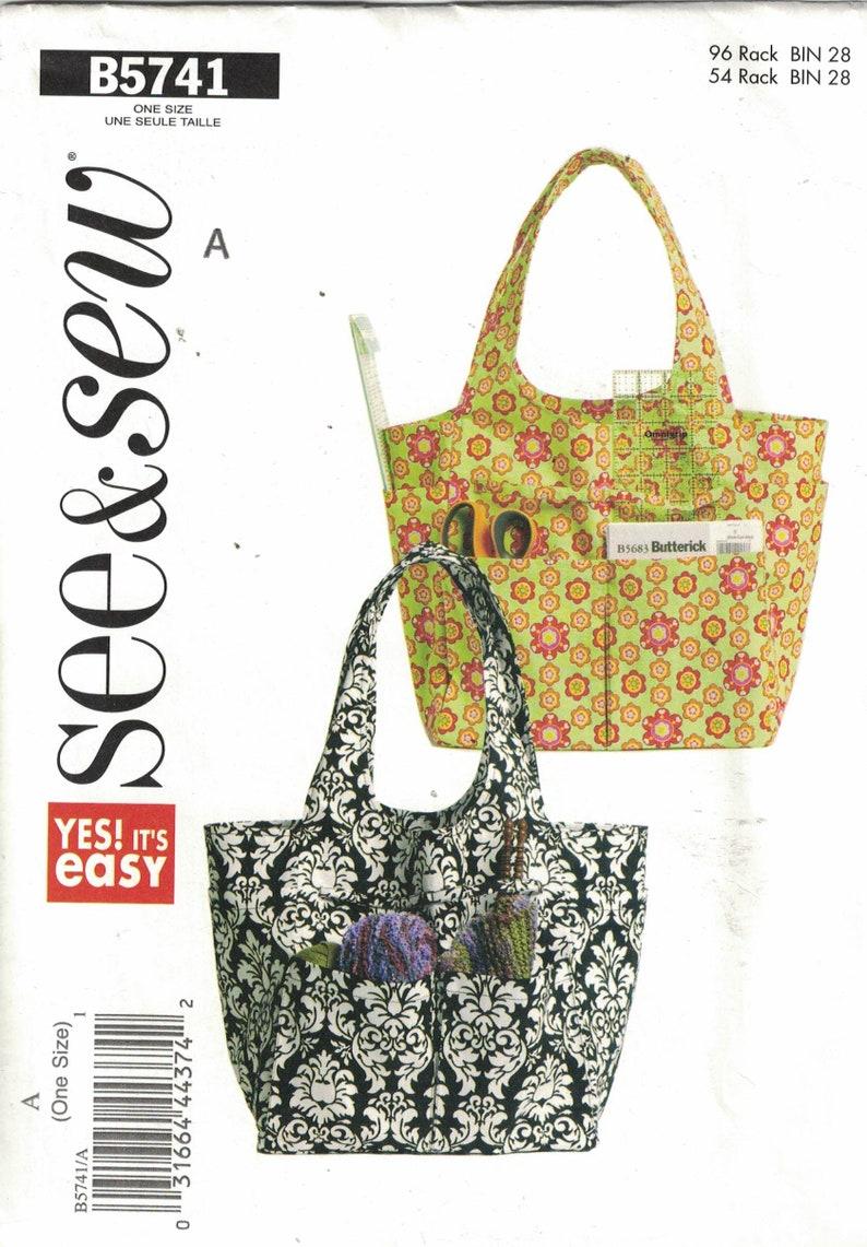 808b9708bc2f4 See and Sew 5741 Craft Pattern Womens Handbag or Tote UNCUT