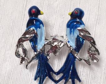 Vintage Gerrys Blue Birds Pin